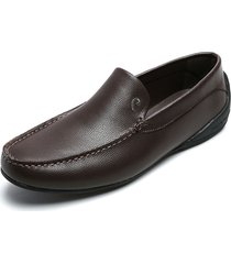 zapato mocasin cafe pierre cardin pc2359-b