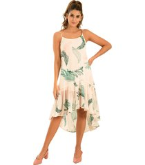 vestido botanico verde ragged pf11510921