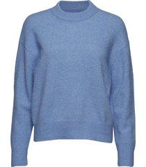 anour o-n 7355 stickad tröja blå samsøe samsøe