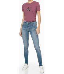 blusa feminina estampa ck roxa calvin klein jeans - pp