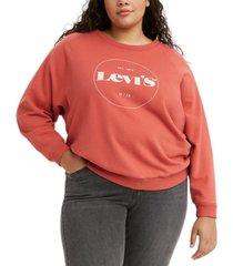 levi's trendy plus size vintage-style logo sweatshirt