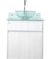 gabinete para banheiro com cuba parati 60x75cm cinza
