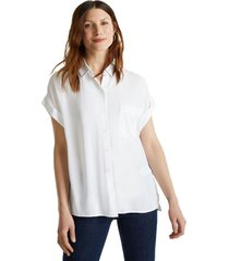 blusa de crepé blanco esprit