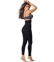 leggings talle alto con control de abdomen - exterior negro leonisa