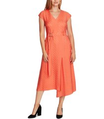 vince camuto jacquard belted dress