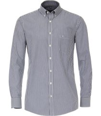 casamoda heren overhemd poplin gestreept comfort fit