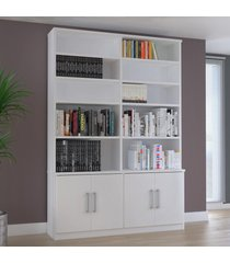 estante para livros 4 portas 1283 branco - foscarini