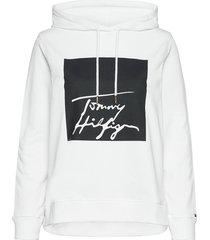 alissa hoodie ls hoodie trui wit tommy hilfiger