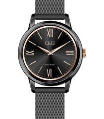 reloj para dama elegante q&q qb03j802y negro