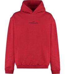maison margiela logo cotton hoodie
