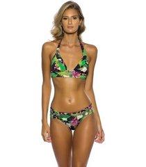 biquíni drapeado kalini beachwear bromélias