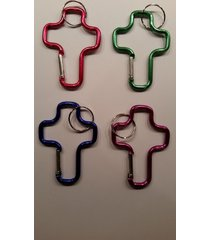 "36 - cross shaped carabiner clip - 3"" - key chain backpack ring chain belt hook"