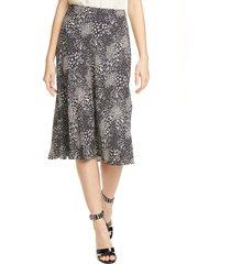 women's joie brystal mixed animal print skirt