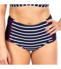 trofe navy stripe bikini maxi bikini brief * gratis verzending *