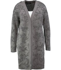 vero moda lang grijs vest met glittergaren