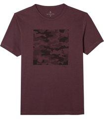 camiseta dudalina manga curta malha estampado camuflado masculina (vinho, xgg)