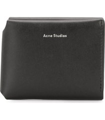 acne studios fold card holder - black