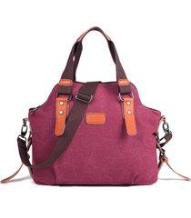 spalla borsa della borsa della tela di canapa casuale delle donne borsas
