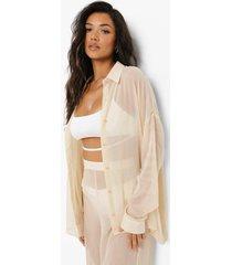 chiffon strand blouse, sand