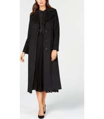 anne klein single-breasted maxi coat