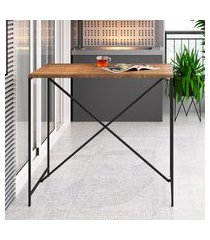 mesa sala de jantar bancada artesano vermont/preto fosco