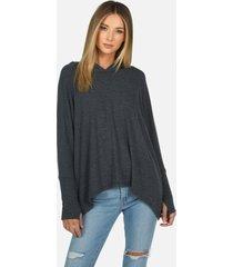 dash core oversized hoodie - heather black m/l
