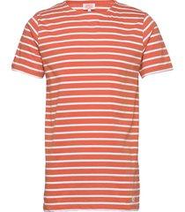 original breton striped shirt t-shirts short-sleeved röd armor lux