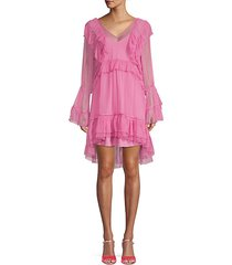 tuilleries ruffle high-low dress