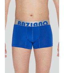 boxer microfibra basico azul baziani