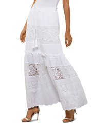 bcbgmaxazria embroidered lace-panel skirt
