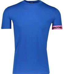 dsquared2 royal t-shirt blauw
