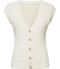 evigz waistcoat vests knitted vests vit gestuz