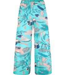 pantaloni culotte con cinta comoda (blu) - bpc bonprix collection