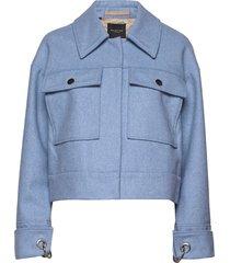 slfbetty wool jacket b wollen jack jack blauw selected femme