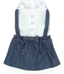 parisian pet chambray overall dog dress