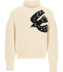 alexander mcqueen knitted sweater with symbol