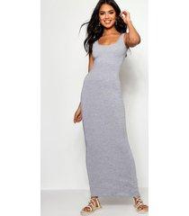 maxi dress, grey marl
