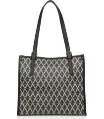 lancaster paris designer handbags, ikon coated canvas tote bag