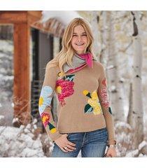 winter flowers sweater