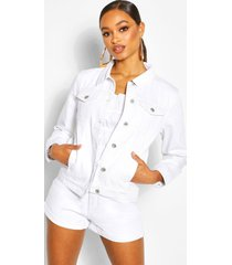 denim western jacket, white