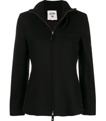 jean paul gaultier pre-owned lace-up detailing jacket - black