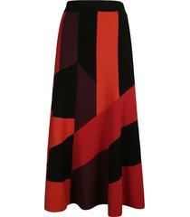 alexander mcqueen long length printed skirt