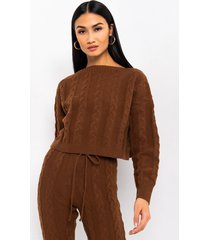 akira im extra. comfortable knit long sleeve sweater