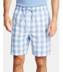 nautica men's cotton plaid pajama shorts