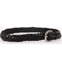 golden goose leather braided belt