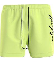 tommy hilfiger zwembroek flash - geel/groen