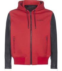 givenchy bimateriale jacket