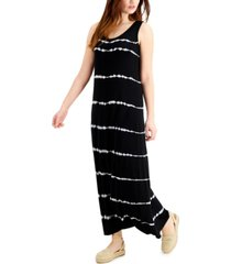 style & co tie-dyed sleeveless maxi dress, created for macy's