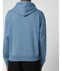 kenzo men's gradient tiger classic hooded sweatshirt - blue - xs