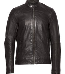 light leather racer leren jack leren jas zwart superdry